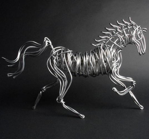 Aluminum Wire Horse - Small