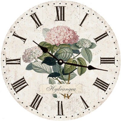 Clock - Wall Hanging - Hydrangea Clock