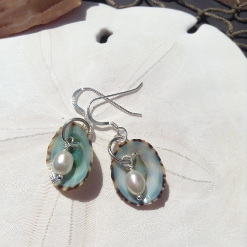 Earrings - Anna - White Pearl - Sterling Silver