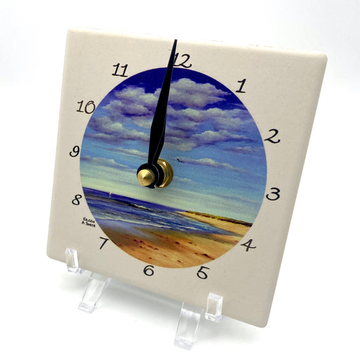 Clock - Desk - Nauset Beach South - Black Hand