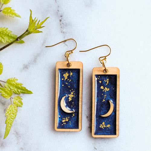 Earrings - Moon and Stars - EAR1047