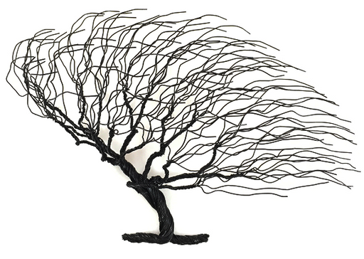 LG Windblown Wire Tree - Black