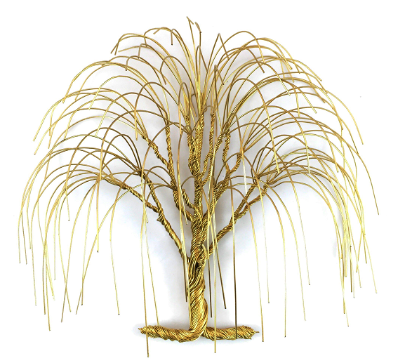 LG Willow Wire Tree - Gold