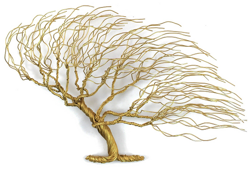 LG Windblown Wire Tree - Gold