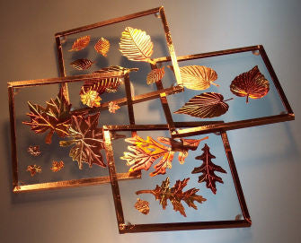 Copper Coaster Set - Leaves