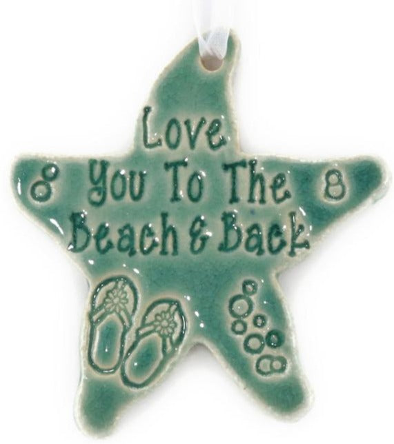 Ornament - Love You to the Beach and Back - Green