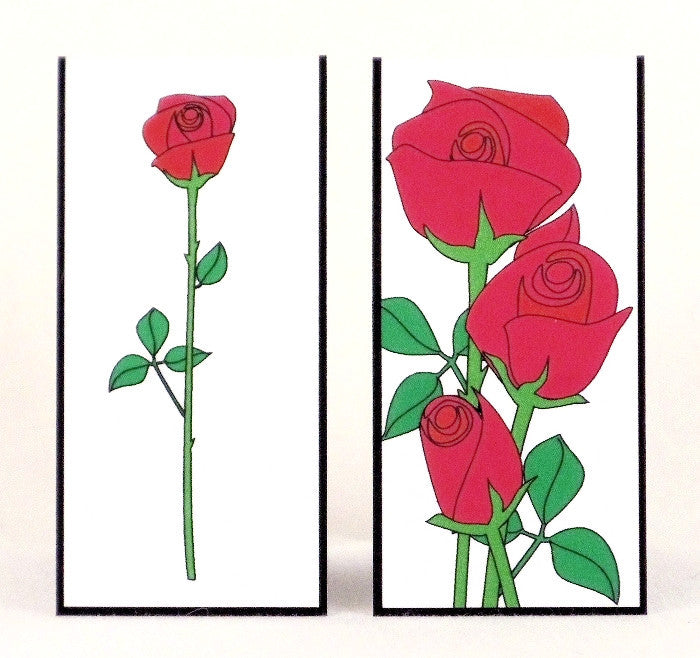 Magnetic Bookmark - Red Rose - MBK58