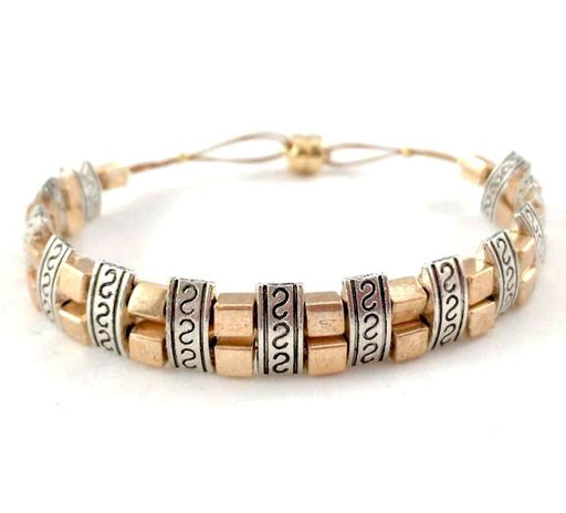 Magnetic Bracelet - Gold and Silver Two by One