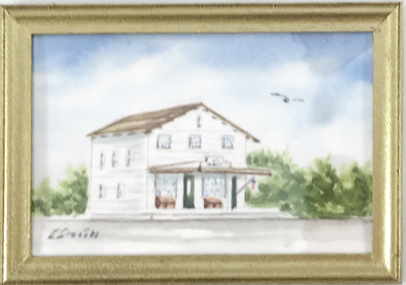 Original - Miniature - 2x3 - Watercolor - Brewster Store