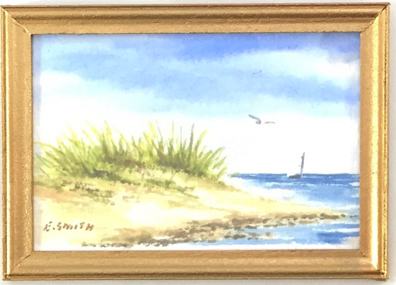 Original - Miniature - 2x3 - Watercolor - Cape Cod Bay