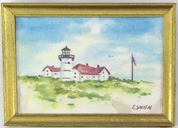 Original - Miniature - 2x3 - Watercolor - Chatham Light - 2