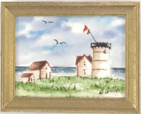 Original - Miniature - 1.5x2 - Watercolor - Stage Harbor Light