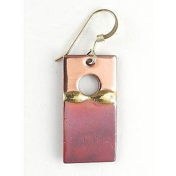 Earrings - 1'' Rectangle Sunset - NS19