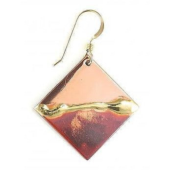 Earrings - 3/4'' Diagonal Square - NS5