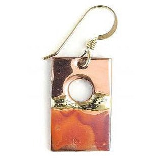 Earrings - 1/2'' Rectangle Sunset - NS65