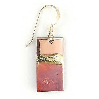 "Earrings - 3/8'' x 3/4"" Rectangle - NS69"