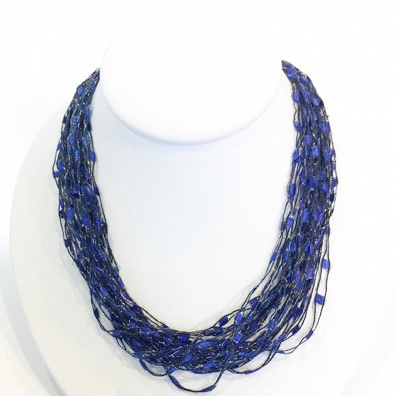 Necklace - Deep Ocean Blue - HC7898