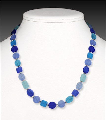 "Necklace - Sunstone 18"" - Pacific Cool Blues - NS5462"