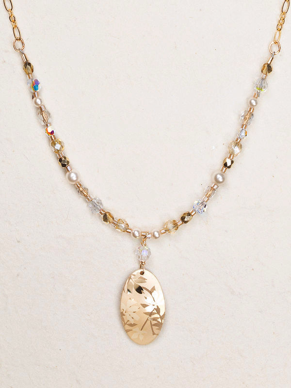Necklace - Wild Rose Beaded -Gold - 96201