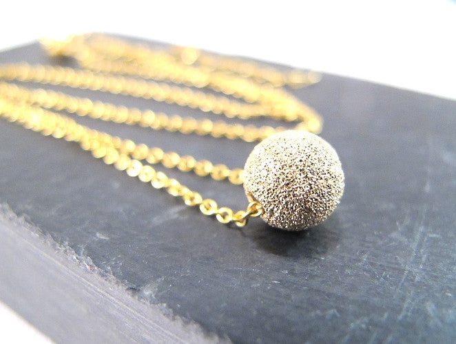 Necklace - Ball of Sparkle Gold