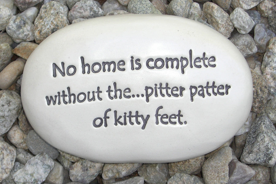 Ceramic Garden Stone - No home is complete without the...pitter patter of kitty feet.