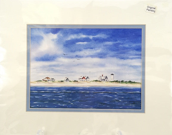Original - 11x14 - Watercolor - Sandy Neck - Blue Matte