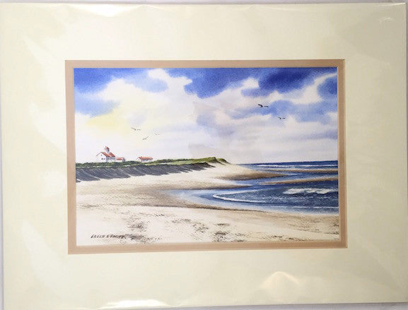 Original - 12x16 - Watercolor - Coast Guard - Tan Matte