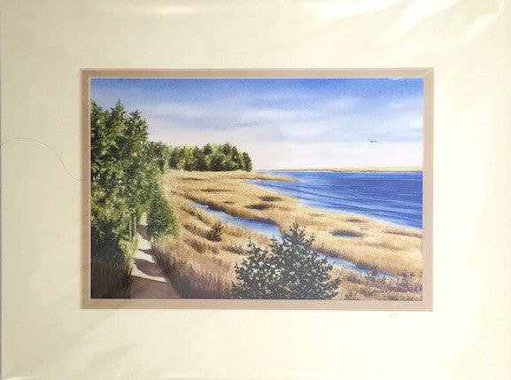 Original - 12x16 - Watercolor - National Seashore - Tan Matte
