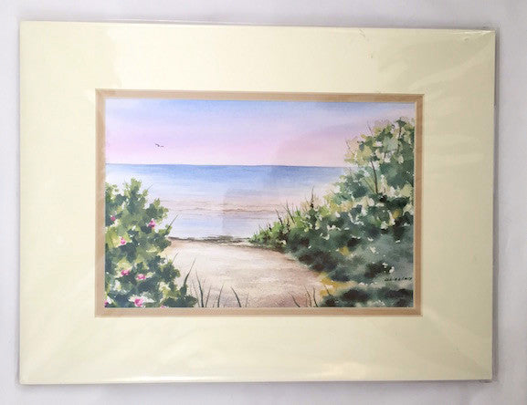Original - 12x16 - Watercolor - To the Bay - Tan Matte