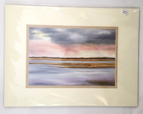 Original - 12x16 - Watercolor - Wellfleet - Tan Matte