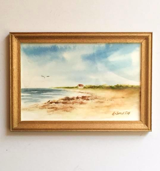 Original - Miniature - 2x3 - Watercolor - Cape Cod Bay - 2