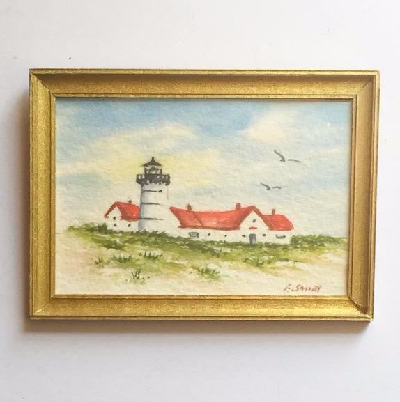 Original - Miniature - 2x3 - Watercolor - Chatham Light - 3