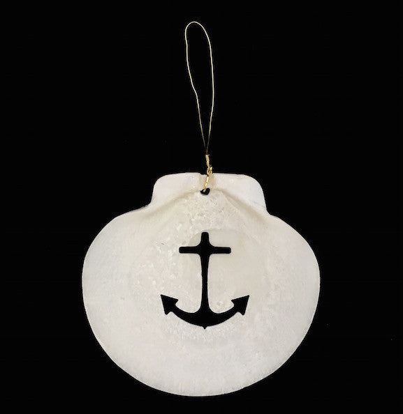 Ornament Anchor Scallop Shell Handcraft House