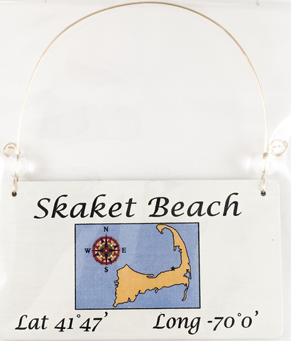 Skaket Beach ornament with coordinates