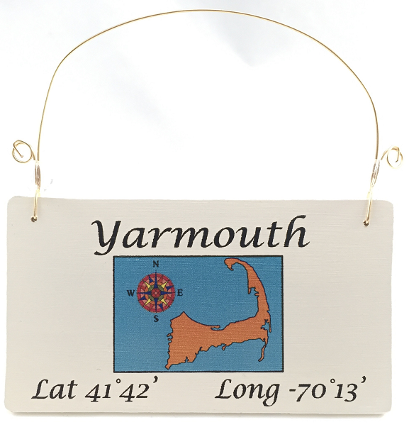 Yarmouth, MA ornament with coordinates