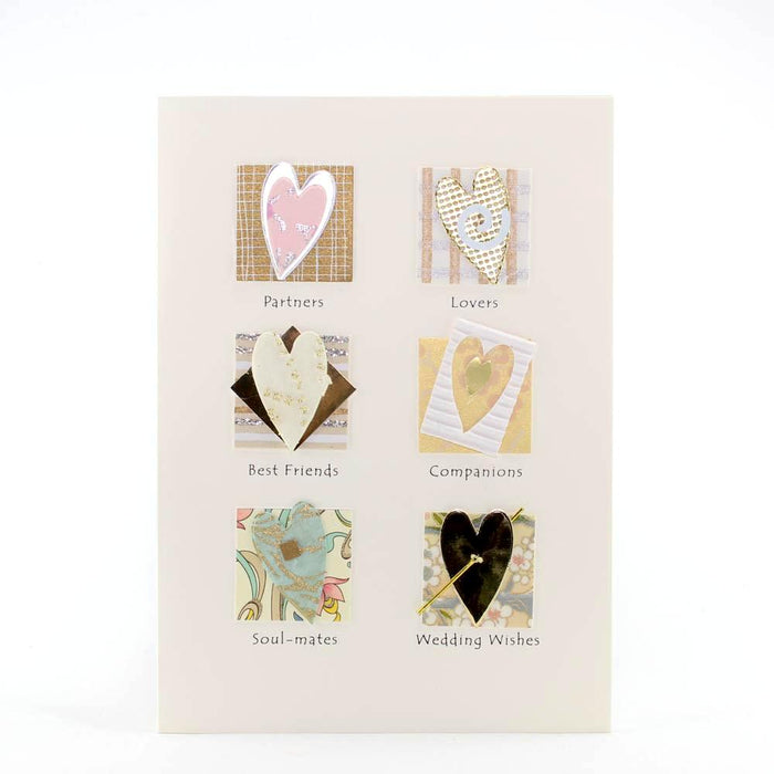 "Notecard - ""Partners, Lovers, Best Friends, Companions, Soul-mates, Wedding Wishes"""