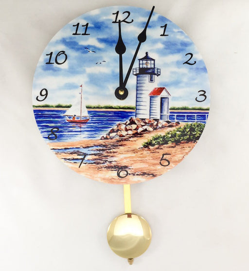 Pendulum Clock - Wall Hanging - Brant Point