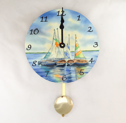 Pendulum Clock - Wall Hanging - Circle of Sails