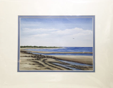 Print - 11x14 - Crosby Beach - Blue Matte