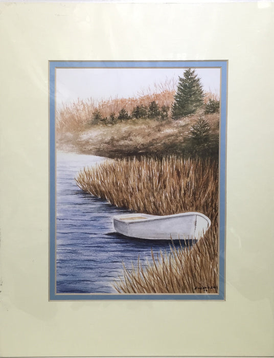 Print - 11x14 - Mill Pond Dinghy - Blue Matte