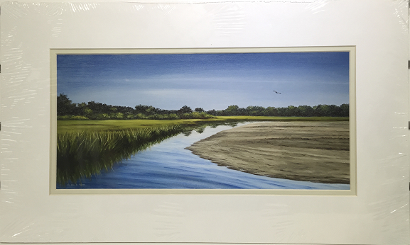 Print - 12x20 - Paine's Creek - Off White Matte