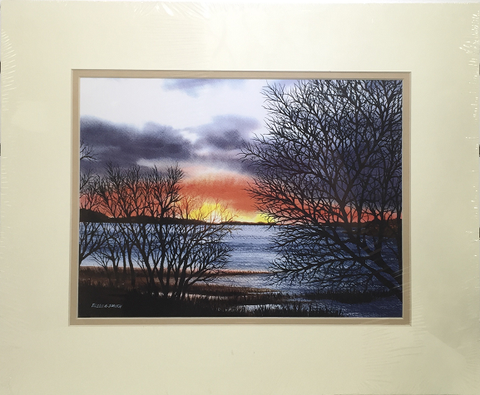 Print - 14x17 - Wellfleet Sunset - Tan Matte
