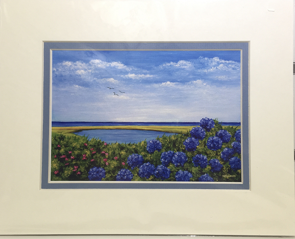 Print - 8x10 - Bloom with a View - Blue Matte