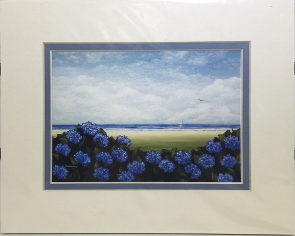 Print - 8x10 - Bloom with a View #2 - Blue Matte