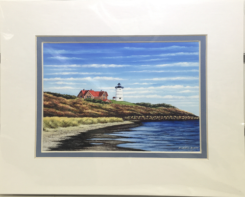 Print - 8x10 - Nobska Light Horizontal - Blue Matte