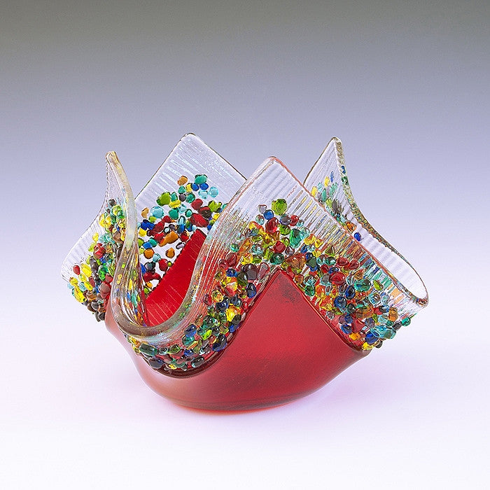 Glass Votive - Red