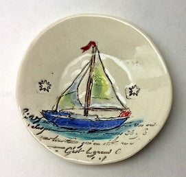 Little Pottery Bowl - Sailboat