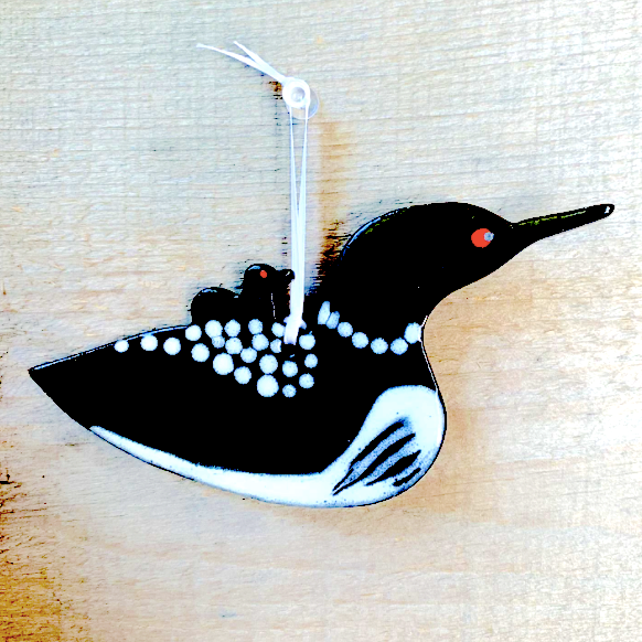 Ornament - Loon w/Chick