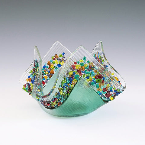 Glass Votive - Sea Green