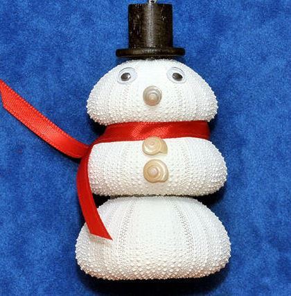Ornament - Sea Urchin Snowman - Red